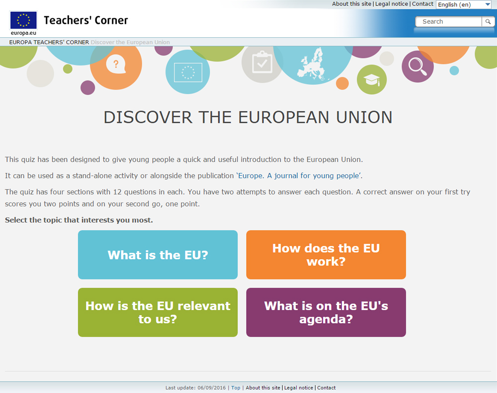 europe a journal for young people